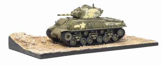 Dragon Models 1/ 72nd Scale Armor  M4A3 105mm HVSS 713th Tank Battalion w/Diorama Base #60382