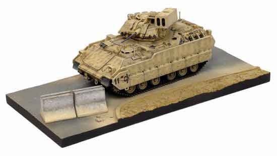 "Dragon Models 1/ 72nd Scale Armor Series Modern M6 Bradley Linebacker (Air-defense Vehicle), C ""Combat"" Troop, 5-7 CAV, 42nd Infantry Division OIF III 2005 w/Diorama Base   #60401"