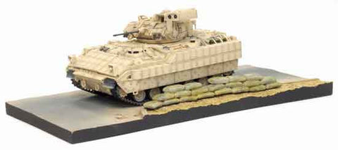 Dragon Models 1/ 72nd Scale Armor  M2A2 Bradley w/ERA, 2nd Battalion 7th Infantry Regiment, 3rd Infantry Division, Baghdad 2004 w/Diorama Base #60402