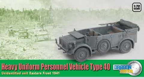 Dragon Models 1/ 72nd Scale Armor 1:72 Heavy Uniform Personnel Vehicle Type 40. Unidentified Unit, Eastern Front 1941  #60430