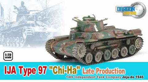 Dragon Models 1/ 72nd Scale Armor 1:72 IJA Type 97 CHI-HA Late Production, 14th Independent Tank Company, Jeju-do 1945 #60435