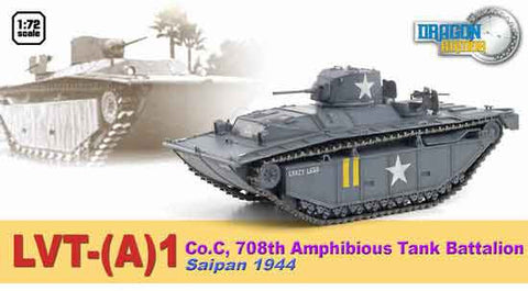 Dragon Models 1/ 72nd Scale Armor 1:72 LVT-(A)1, Co.C, 708th Amphibious Tank Battalion, Saipan 1944 #60499