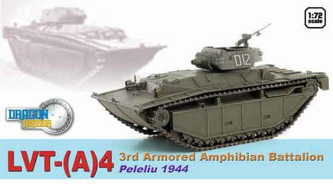 Dragon Models 1/ 72nd Scale Armor 1:72 LVT-(A)4, 3rd Armored Amphibian Battalion, Peleliu 1945 #60500