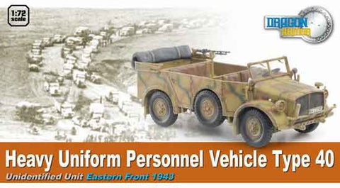 Dragon Models 1/ 72nd Scale Armor 1:72 Heavy Uniform Personnel Vehicle Type 40. Eastern Front 1943  #60502
