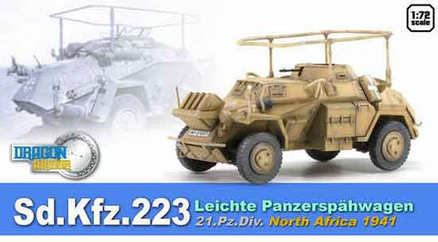 Dragon Models 1/ 72nd Scale Armor 1:72 Sd.Kfz.223 Leichte Panzerspahwagen, 21.Pz.Division, North Africa 194 #60514
