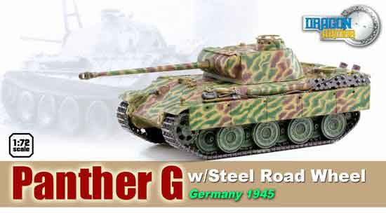 Dragon Models 1/ 72nd Scale Armor  Panther G w/Steel Road Wheel, Germany 1948 #60548