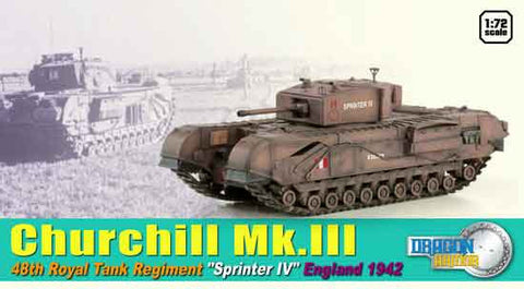 "Dragon Models 1/ 72nd Scale Armor 1:72 Churchill Mk.III 48th Royal Tank Regiment ""Sprinter IV"", England 1942 #60591"