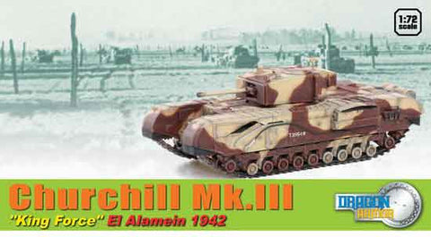 "Dragon Models 1/ 72nd Scale Armor 1:72 Churchill Mk.III ""King Force"", Alemein 1942 #60592"