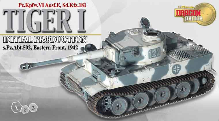 Dragon Models 1/35th Scale Armor Series German WWII Tiger I Tank, Eastern Front 1942 #61003