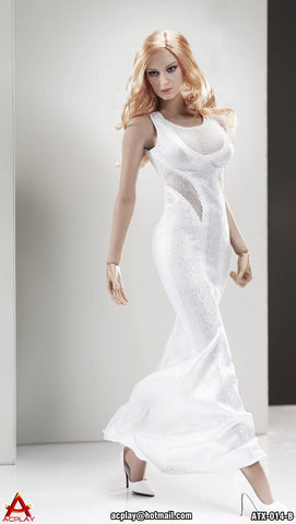 "AC PLAY 1/6 Sleeveless Mermaid Gown Accessory Set B ""White Color"" #AP-ATX014B"