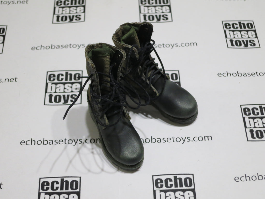 ACE 1/6th Loose Boots (Jungle, Panama Sole,Fabric) Weathered #ACL6-B101