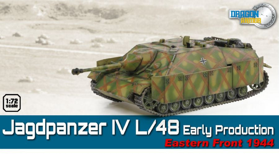 Dragon Models 1/ 72nd Scale Armor  Jagdpanzer IV L/48 Early Production, Eastern Front 1944  #60550