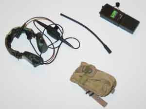 Crazy Dummy Loose 1/6th PRC148 Radio (w/WD Peltors & Tan Pouch) #CDL4-K100