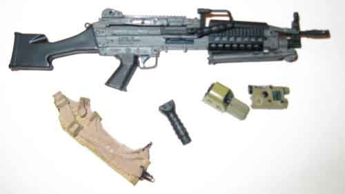 Crazy Dummy Loose 1/6th Mk46MOD1 Machine Gun (w/Accessories) #CDL4-W100