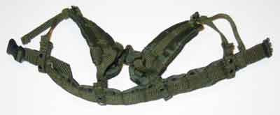 Crazy Dummy Loose 1/6th Duty Belt w/Suspenders (OD) #CDL4-Y010