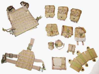 Crazy Dummy Loose 1/6th Plate Carrier (w/Pouches & Leg Panel)(Tan) #CDL4-Y100