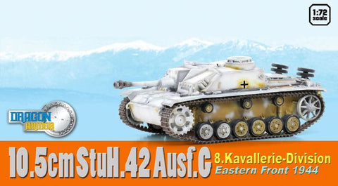 Dragon Models 1/ 72nd Scale Armor 10.5cm StuH.42 Ausf.G, 8.Kavallerie-Divisino, Eastern Front 1944  #60458