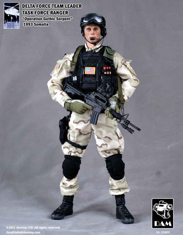DAM Toys 1/6 Delta Force Team Leader (Task Force Ranger) Boxed Set #DAM-93003