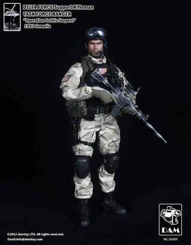 DAM Toys 1/6 Delta Force Support Rifleman (Task Force Ranger) Boxed Set #DAM-93005