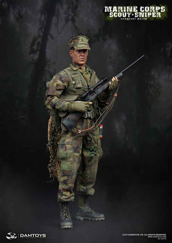 DAM Toys 1/6 Marine Corps Scout Sniper Boxed Set #DAM-93018