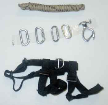 DAM Toys Loose 1/6th Rappelling Gear (4xCarabiners/Rope/Harness/Descender) #DAM4-A333
