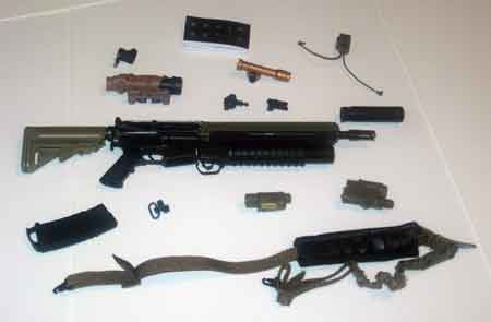 DAM Toys Loose 1/6th SOPMOD M4 Rifle w/M203 Rifle w/Accessories  #DAM4-W201