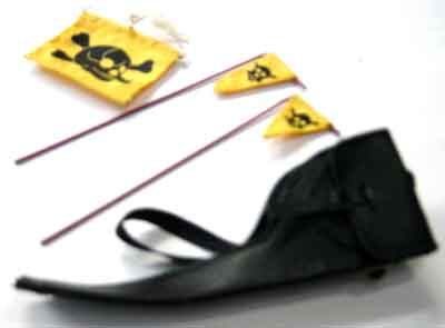 DID Loose 1/6 WWII German Caution Flags (3x,w/Pouch) #DID1-A202