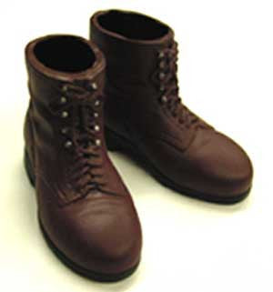 Dragon Models Loose 1/6th Scale WWII German Ankle Boots Brown #DRL1-B203