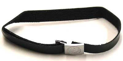 Dragon Models Loose 1/6th Scale WWII German Heer Silver Buckle Belt (Black/Leather) #DRL1-Y406