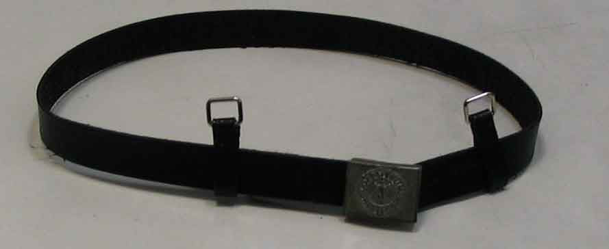 Dragon Models Loose 1/6th Scale WWII German Heer Silver Buckle Belt (Black/Leather) Weathered Working Buckle w/Support Loops #DRL1-Y412