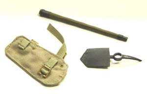 Dragon Models Loose 1/6th Scale WWII British Entrenching Tool w/(OD) Carrier  #DRL2-A200