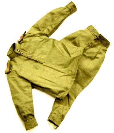 "Dragon Models Loose 1/6th Scale WWII Russian Shrit (OD) ""no pockets"" w/trousers ""Private"" #DRL5-U104"