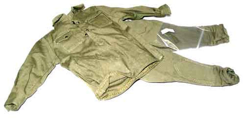 "Dragon Models Loose 1/6th Scale WWII Russian Shirt (OD) w/pockets"" w/trousers w/rank patches #DRL5-U112"