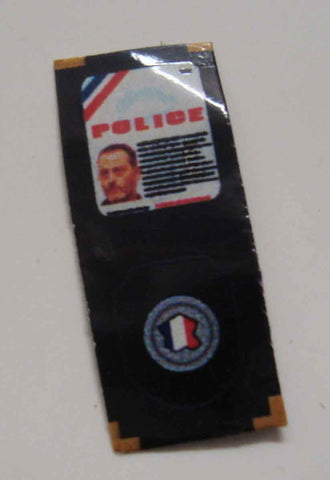 Dragon Models Loose 1/6th Scale Modern Law Enforcement French Police ID Wallet #DRL7-A209