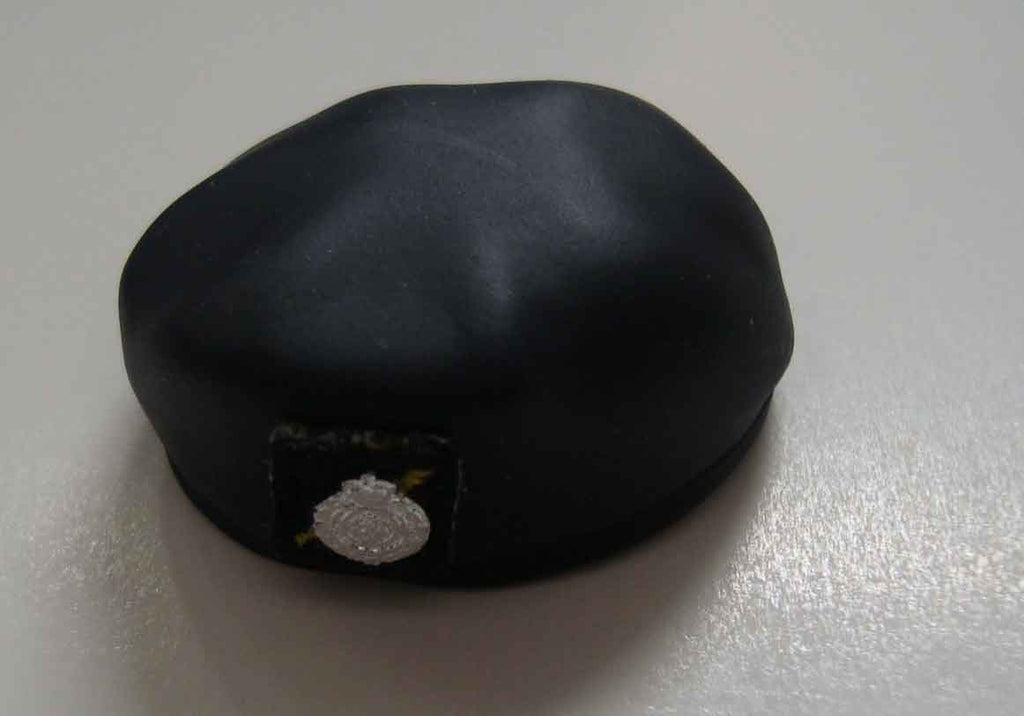 Dragon Models Loose 1/6th Scale Modern Law Enforcement RHKP ASU Beret MOLDED (Black) #DRL7-H004