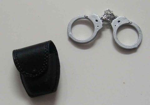 Dragon Models Loose 1/6th Scale Modern Law Enforcement Handcuffs w/pouch w/flap #DRL7-P100
