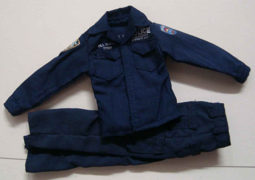 Dragon Models Loose 1/6th Scale Modern Law Enforcement NYPD ESU Shirt & Pants (Blue) #DRL7-U301