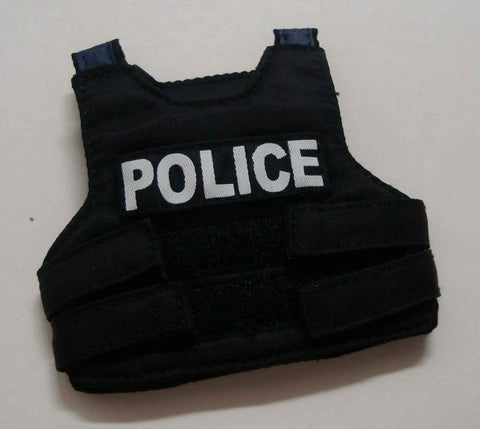 Dragon Models Loose 1/6th Scale Modern Law Enforcement Police Body Armor (Black) #DRL7-Y100