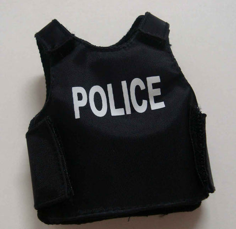 Dragon Models Loose 1/6th Scale Modern Law Enforcement PT Style body Armor w/Police (Black) #DRL7-Y102