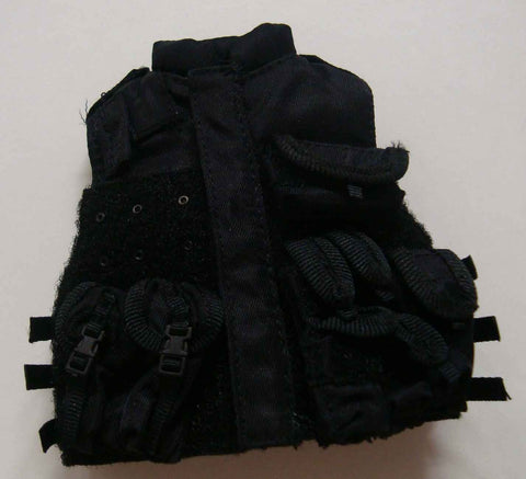 Dragon Models Loose 1/6th Scale Modern Law Enforcement SWAT Vest w/Pouches (Black) #DRL7-Y200