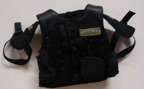 Dragon Models Loose 1/6th Scale Modern Law Enforcement SF Sheriff SRT Vest w/Pouches (Black) #DRL7-Y202