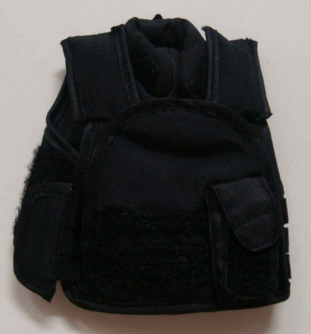 Dragon Models Loose 1/6th Scale Modern Law Enforcement SDU Style Vest w/Police (Black) #DRL7-Y203