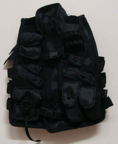 Dragon Models Loose 1/6th Scale Modern Law Enforcement SDU Level One Vest (Black) #DRL7-Y204
