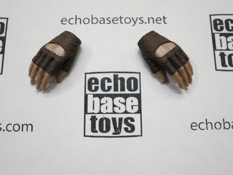 VERY COOL 1/6 Loose Gloved Hands (Fingerless Brown, Pair, Relaxed) #VCL9-HN201C