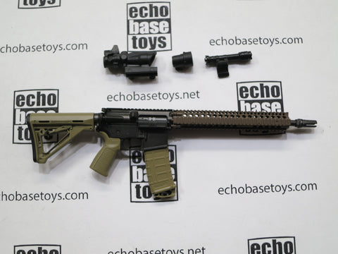 VERY COOL 1/6 Loose M4 SOPMOD BLOCK II Rifle (Tan,w/Scope) #VCL9-W200