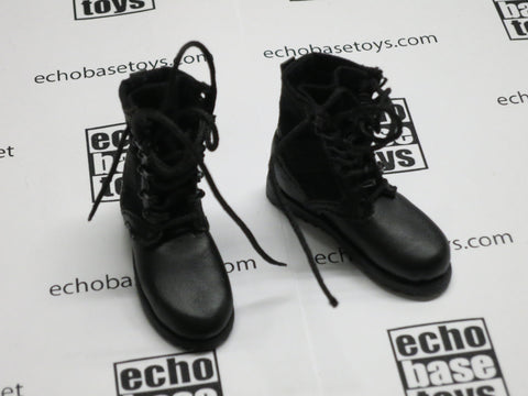 DAM Toys Loose 1/6th Boots (Combat,Black)  #DAM4-B210