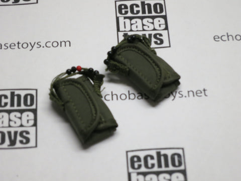 DAM Toys Loose 1/6th Tactical Floatation Support System Pouches (2x)(OD) #DAM4-P901