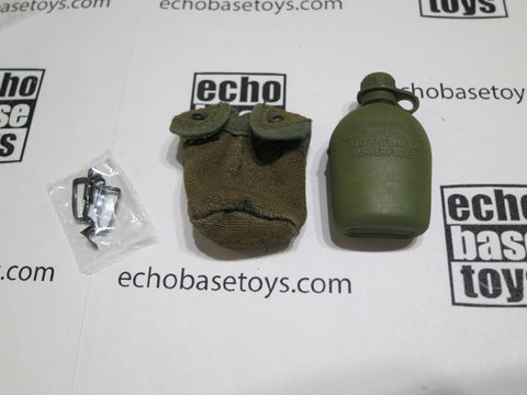 ACE 1/6th Loose M1956 Canteen Pouch & Canteen (OD)(Weathered) #ACL6-P300