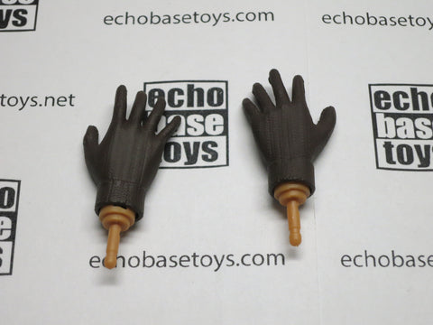 Dragon Models Loose 1/6th Gloved Hands (WWII Wool Knit)(Brown)(Bendy) #DRNB-H007