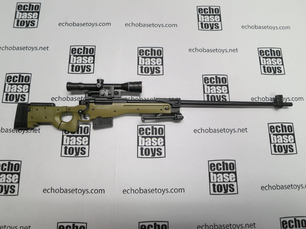 VERY COOL 1/6 Loose AWM Sniper Rifle (Tan,w/Scope) #VCL9-W400